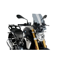 Puig Naked New Generation Touring Screen To Suit BMW R1250R (2019-onwards) Includes Supports - Smoke