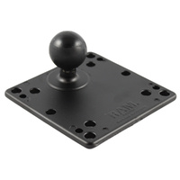 "RAM-246-AD1U - RAM 4.75"" Square Base with VESA (4 X 75mm) (4 X 100mm) Hole Patterns & 1.5"" Ball"