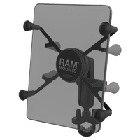 RAM-B-149Z-UN8U - RAM Handlebar Rail Mount with Zinc Coated U-Bolt Base and Universal X-Grip™ II Holder for Small Tablets