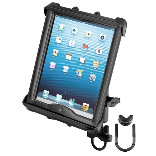 RAM-B-149Z-TAB8U - RAM Handlebar or Rail Mount with Tab-Tite™ Universal Clamping Cradle for Large Tablets WITH HEAVY DUTY CASES